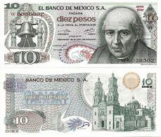 MEXICO       10 Pesos       P-63h       15.5.1975       UNC  [ Serie 1DW ] - Mexiko
