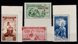 Kouang Tcheou - YV PA 1 à 4 N** Enfance Indigene & Quinzaine Imperiale Cote 4 Euros - Unused Stamps