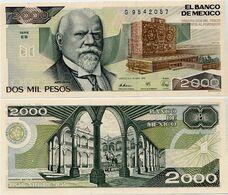 MEXICO       2000 Pesos       P-86c       28.3.1989       UNC  [ Serie EB ] - Mexico