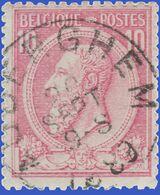 """COB  N° 46 - Belle Oblitération """"AUDERGHEM"""" - 1884-1891 Leopold II"""