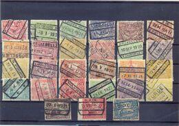 Nrs. TR100/TR127 Gestempeld 86 Côte Met Enkele Mooie Stations (Schellebelle) - 1915-1921