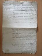 Document Ancien 1765 - Certificat Du Receveur Des Tailles D'Avranches - Signée Le Gay De Ferrierre - Documents Historiques