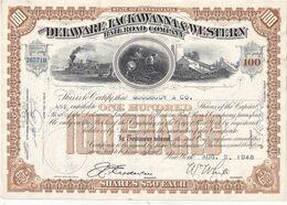 USA 1952 ACTION DELAWARE LACKAWANNA WESTERN RIL ROAD COMPANY - Autres