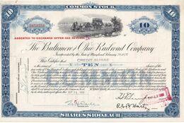 USA 1959 ACTION THE BALTIMORE AND OHIO RAILROAD COMPANY - Autres