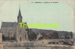 CPA JEMELLE L'EGLISE ET LA LHOMME  CARTE COLORISEE  EDIT L DUPARQUE FLORENVILLE - Rochefort
