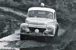 Volvo PV544  -   Pilote:  Tom Trana  -  Rallye RAC 1963   -  PHOTO 15x10cms - Rallyes