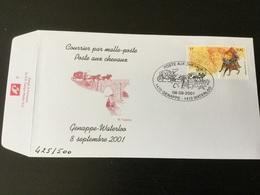 Courrier Par Malle-poste De Genappe à Waterloo (8/9/2001) - Storia Postale