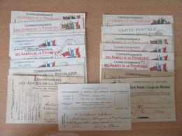 Guerre 14-18 - 18 Correspondances Des Armées Envoyées Entre 1914 Et 1919 Au Lieutenant De La Brousse - Storia Postale