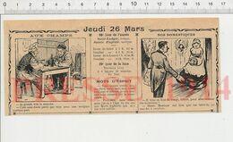 2 Vues Humour 1914 Expression Prendre La Mouche Araignée (au Plafond) Achat D'écrevisses Cuisine Scarabée Insecte 231R - Alte Papiere