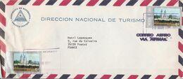 NICARAGUA AFFRANCHISSEMENT COMPOSE SUR LETTRE POUR LA FRANCE 1976 - Nicaragua