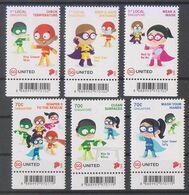 "Singapore 2020 ""Soaper 5"" Heroes For Kids Fight Covid Virus Coronavirus Mask Safe Distance - Disease"