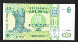 МОЛДОВА  20   1999 UNC - Moldavia