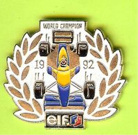 Pin's Carburant ELF World Champion 1992 Voiture De Course - 5C01 - Carburants