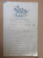 Correspondance Privée Sur Papier à En-tête Du 14e Régiment De Hussards, 4e Escadron, 1e Peloton - 1895 - Manoscritti