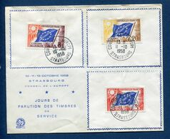 France - Premier Jour - FDC - Europa - 1958 - 1950-1959