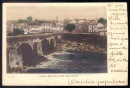 Postal Antigo BARCELLOS Barcellinhos (Barcelos / Barcelinhos) Nora / Water Wheel Mill. Old Postcard Braga PORTUGAL 1900s - Braga