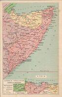 (CG).Cartolina Geografica Periodo Bellico.Africa Italiana Libia.F.to Piccolo.Nuova (75-a18) - Landkarten