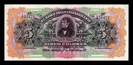Costa Rica 5 Colones 1903-1917 Pick S122 SC- AUNC - Costa Rica