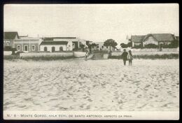 Postal Antigo MONTE GORDO Aspecto Praia. Edição Cliché ANDUJAR & LEITÃO Vila Real Santo Antonio ALGARVE Faro PORTUGAL - Faro