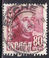 Spagna, 1954 - 80c General Franco - Nr.803 Usato° - 1931-Aujourd'hui: II. République - ....Juan Carlos I