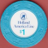 $1 Casino Chip. Holland America Cruise Line. I93. - Casino