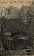 PARIS TRAVAUX DU METROPOLITAIN LES FERMES DE LA PLACE SAINT MICHEL ET DU BOULEVARD SAINT ANDRE... - TREN  TRAIN  TREIN. - Eisenbahnen