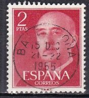 Spagna, 1954/56 - 2p Gen. Franco - Nr.829 Usato° - 1931-Aujourd'hui: II. République - ....Juan Carlos I