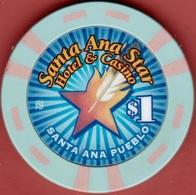 $1 Casino Chip. Star, Santa Ana, NM. I93. - Casino