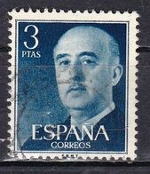 Spagna, 1954/56 - 3p Gen. Franco - Nr.831 Usato° - 1931-Aujourd'hui: II. République - ....Juan Carlos I