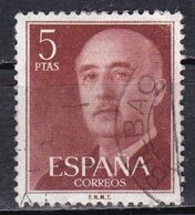 Spagna, 1954/56 - 5pc Gen. Franco - Nr.832 Usato° - 1931-Aujourd'hui: II. République - ....Juan Carlos I