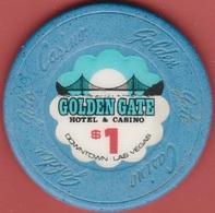 $1 Casino Chip. Golden Gate, Las Vegas, NV. I93. - Casino