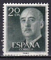 Spagna, 1954/56 - 20c Gen. Franco - Nr.817 Usato° - 1931-Aujourd'hui: II. République - ....Juan Carlos I