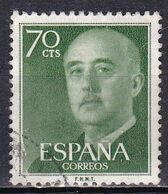 Spagna, 1954/56 - 70c Gen. Franco - Nr.823 Usato° - 1931-Aujourd'hui: II. République - ....Juan Carlos I