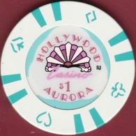 $1 Casino Chip. Hollywood, Aurora, IL. I95. - Casino