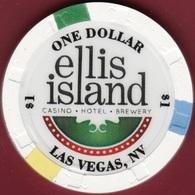$1 Casino Chip. Ellis Island, Las Vegas, NV. I95. - Casino