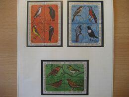 Burundi 1970- Vögel 1 Mit 9 Viererblocks Mi.Nr. 621-656 Mit Gefalligkeitsstempel - 1970-79: Ungebraucht