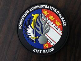 Écusson Gendarmerie Formation Administrative D Alsace Avec Relief En Pvc - Police