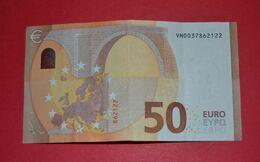 VH Testnote - 50 EURO ESPAÑA - V012 H3- Serial Number: VH0037862122 - USED - 50 Euro