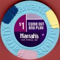 $1 Casino Chip. Harrahs, Las Vegas, NV. I97. - Casino