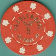 $5 NCV Casino Chip. Paddlewheel, Las Vegas, NV. I98. - Casino