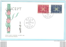 NORWEGEN NORWAY - FDC - 498-499 Cept Europa Buchstaben (28450) - FDC