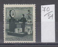 54K70 / K13 Bulgaria 1942 Michel Nr. 13 - Packet BALANCE Paketwaage ,  Darstellungen Aus Dem Paketpostdienst ** MNH - Posta