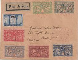 ALGERIE : PA . VOL ALGER TUNIS . AVEC LES CINQ VIGNETTES . TB . 1930 . - Algeria (1924-1962)