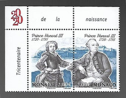 Monaco 2020 - Yv N° 3247 & 3248 ** - Tricentenaire Du Prince Honoré III - Ungebraucht