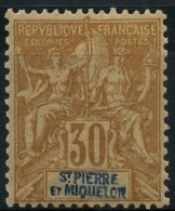 Saint Pierre Et Miquelon (1892) N 67  * (charniere) - Neufs