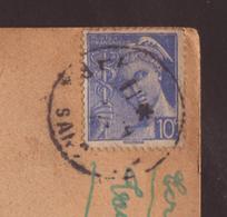 Cécogramme Affr. 10c Mercure - Timbre à Date Illisible - - Marcophilie (Lettres)