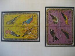 Burundi 1971- Vögel 2 Mit 3 Viererblocks Mi.Nr. 690-701 Mit Gefälligkeitsstempel - 1970-79: Ungebraucht
