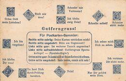 GUTFERNGRUS! GOOD GREEETING-FUR POSTKARTEN SAMMIER-STAMP PLACEMENT POSTCARD 48940 - Greetings From...