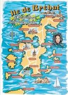 CARTES GÉOGRAPHIQUES - ( 22 ) COTES D'ARMOR - L'ILE DE BRÉHAT - LA CARTE DE L'ILE - CPM - VIERGE - - Carte Geografiche