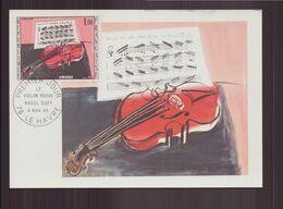 """France, Carte Maximum Du 6 Novembre 1965 Le Havre """" Le Violon Rouge De Raoul Dufy """" - 1960-69"""